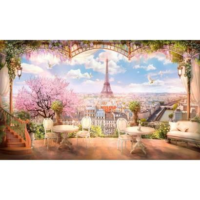 Фотообои Балкон с видом на Париж | арт.26212