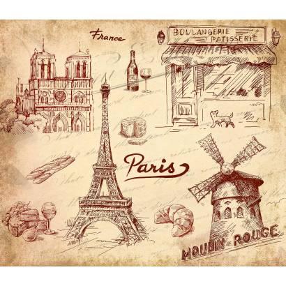 Фотообои Париж. Коллаж | арт.26216