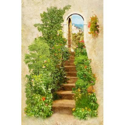 Фотообои Лестница в зелени | арт.26217