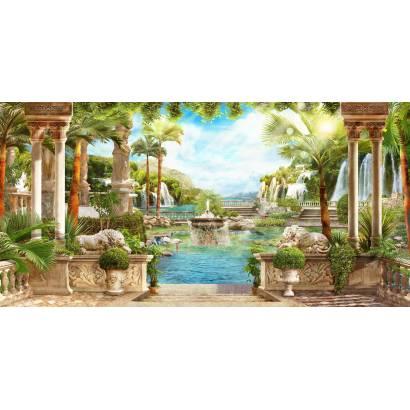 Фотообои Выход с террасы к фонтану | арт.26218