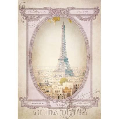 Фотообои Открытка из Парижа | арт.26226