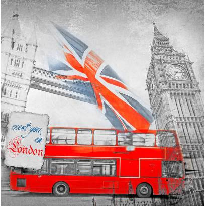 Фотообои Лондон. Коллаж | арт.26236