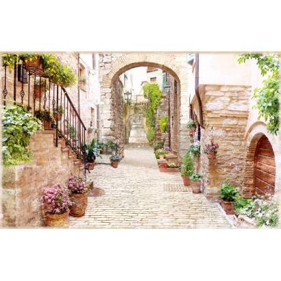 Фотообои Цветущая улочка | арт.26240