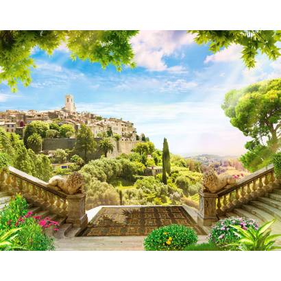 Фотообои Вид с террасы на старый город | арт.26241