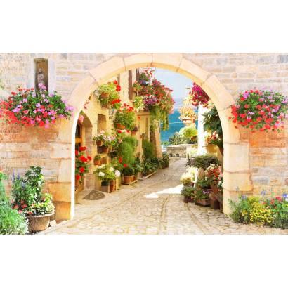 Фотообои Цветущая улочка | арт.26243