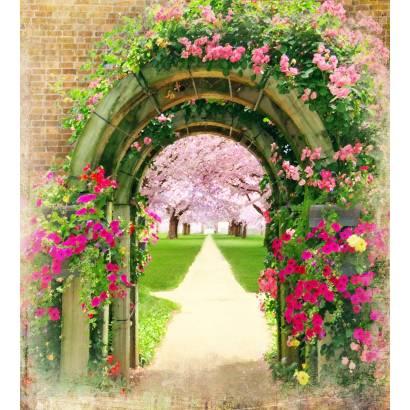 Фотообои Вход в цветущую аллею | арт.26245