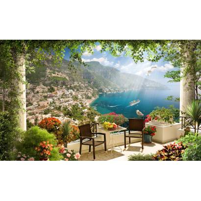 Фотообои Балкон с видом на побережье | арт.26248