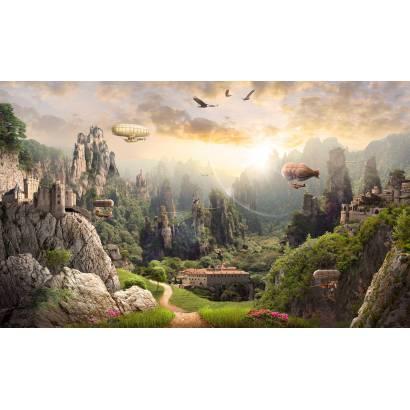 Фотообои Дирижабли над горами | арт.26253