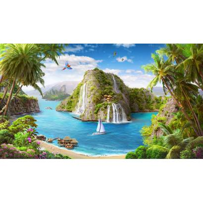 Фотообои Вид с пляжа на остров | арт.26264