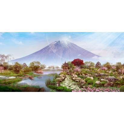 Фотообои Сад камней у подножия Фудзи | арт.26282