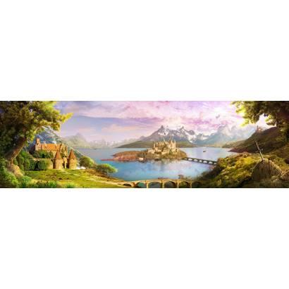 Фотообои Замок на острове | арт.26283