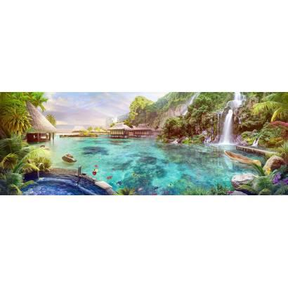 Фотообои Тропический пейзаж с водопадом | арт.26287