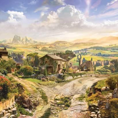 Фотообои Деревенька в Провансе | арт.26288