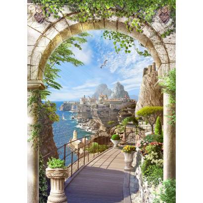 Фотообои Каменная арка у моря | арт.26289