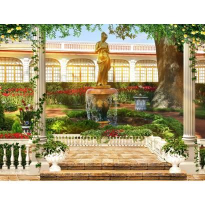 Фотообои Терраса и фонтан | арт.26296