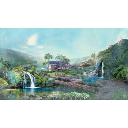Фотообои Водопады, коллаж | арт.2635