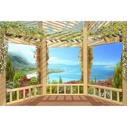 Фотообои Терраса с видом на море | арт.2659