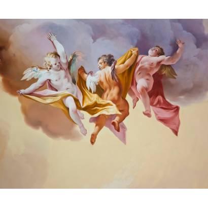 Фотообои Три парящих ангела | арт.2676