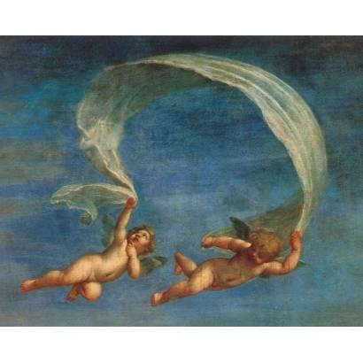 Фотообои Ангелы с тканевым полотном | арт.2686