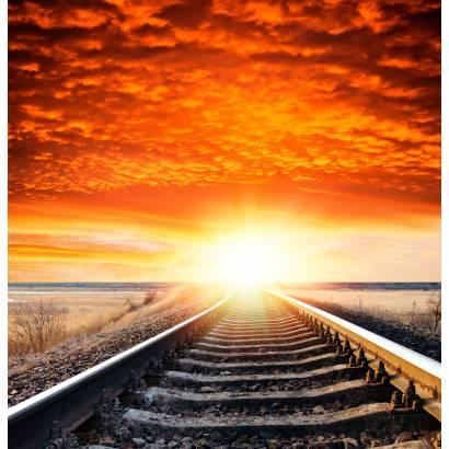 Фотообои Железная дорога на закате | арт.29249