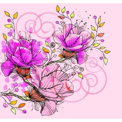 Фотообои Цветочный узор | арт.28506