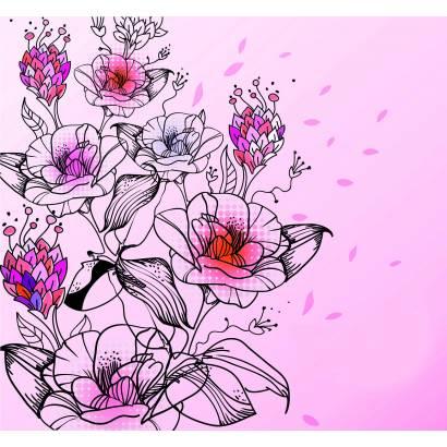 Фотообои Цветочный узор | арт.28507