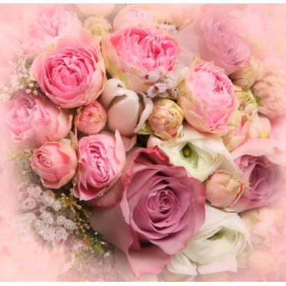 Фотообои Розовый букет | арт.28600