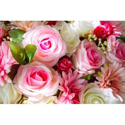 Фотообои Розовые цветы | арт.28628