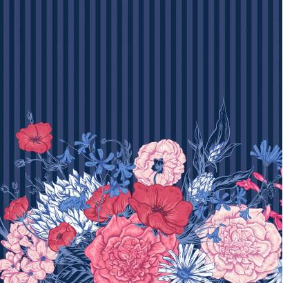 Фотообои Цветочный узор | арт.28668