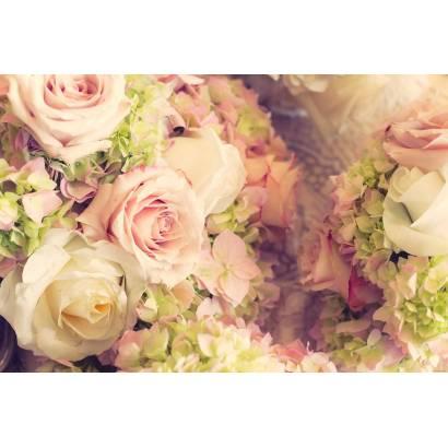 Фотообои Розы и гортензии | арт.28673