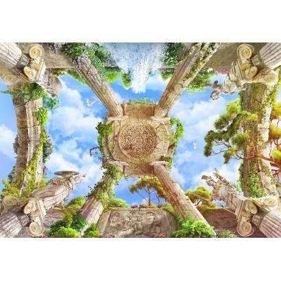 Фотообои Античный сад со статуями | арт.3018