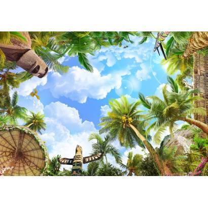 Фотообои Тропики с истуканами | арт.3020