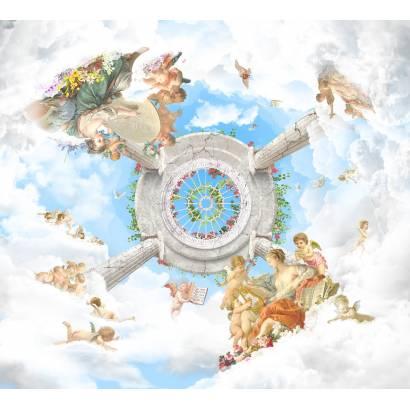 Фотообои Ангелочки в облаках | арт.3023