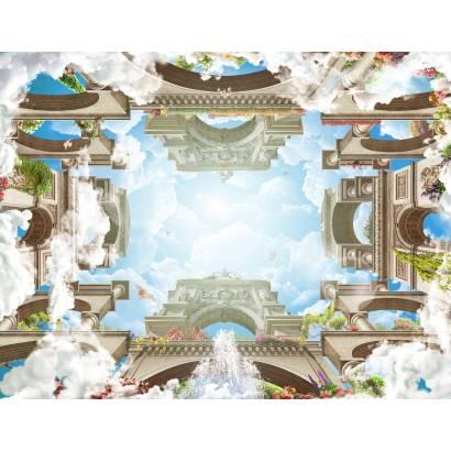 Фотообои Арочная площадь в облаках | арт.3024
