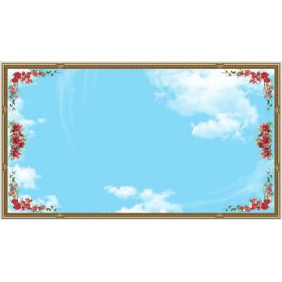 Фотообои цветы и облака | арт.3026
