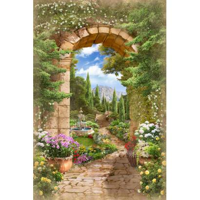 Фотообои Арка с выходом в сад | арт.11512