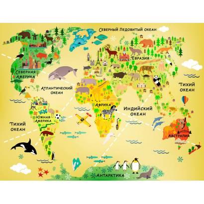 Фотообои Карта мира | арт.14457