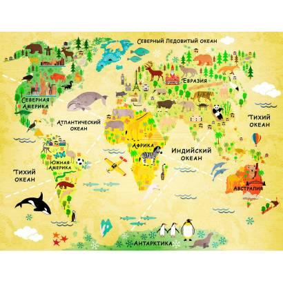 Фотообои Карта мира - винтаж | арт.14458