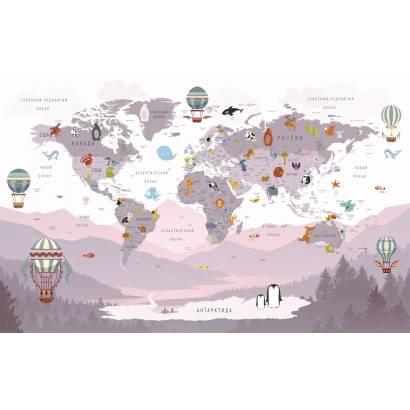 Фотообои Карта на русском языке - каталог: Детские обои и карты | арт.14467