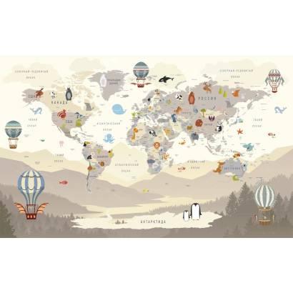 Фотообои Карта на русском языке - каталог: Детские обои и карты | арт.14468