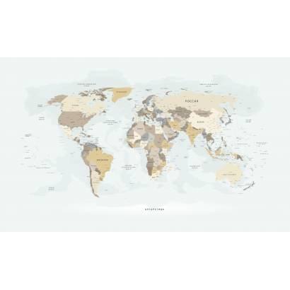 Фотообои Карта на русском языке (новая) - каталог: Карты | арт.1994