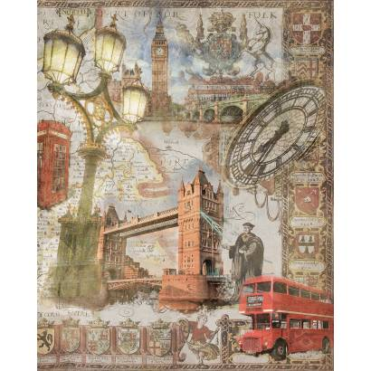 Фреска Коллаж Англия | арт.26297