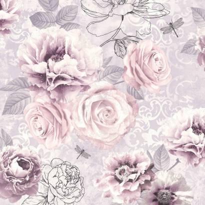 Фотообои Розы пурпур | арт.28696