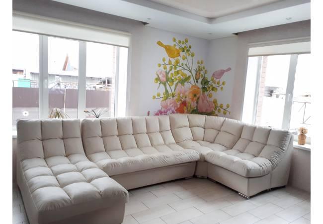 Фотообои Весенний букет В. в интерьере за диваном | арт.17123