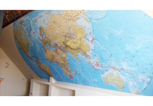 Фотообои Политическая карта мира в интерьере | арт.1950