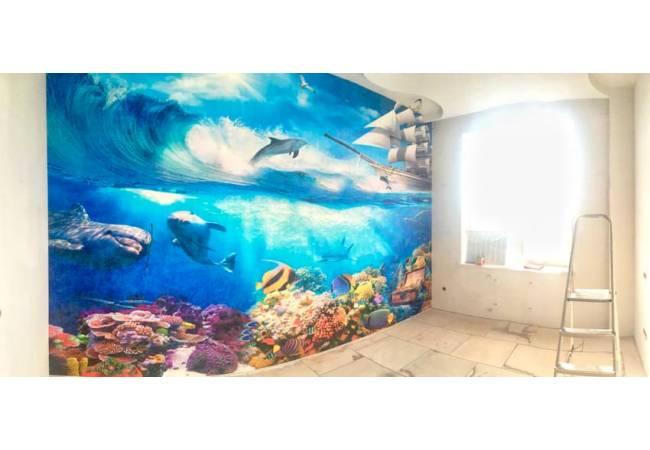 Фотообои Подводные сокровища в интерьере | арт.26278
