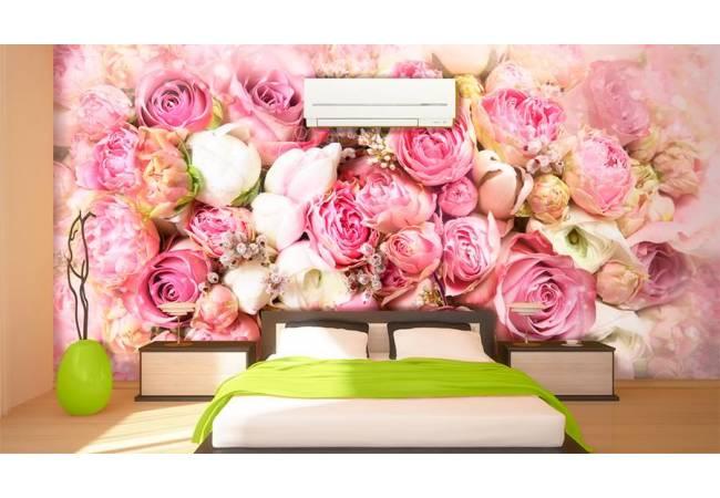 Фотообои Розовый букет в интерьере| арт.28701